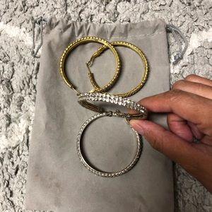 Accessories - Silver & Gold Hoop Earrings